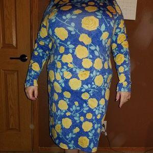 Lularoe 2XL Debbie Long Sleeve Dress